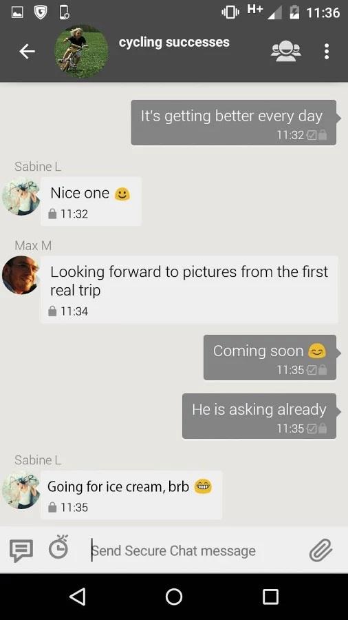 troca de sms chat com