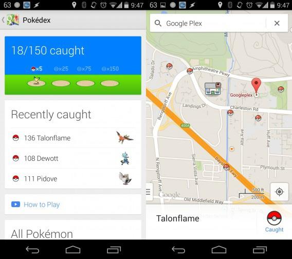 how to turn on pokemon google maps
