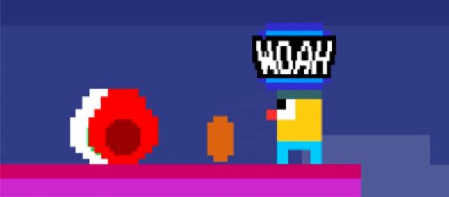 Woah Dave! Um colorido e frenético jogo com gráficos 8-bit para o